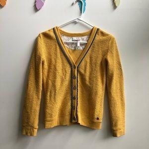 Matilda Jane 435 mustard yellow cardigan 10/12